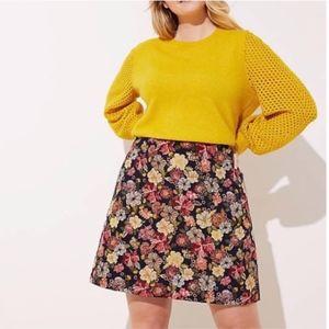 LOFT Plus Floral Jacquard Shift Skirt Size 26